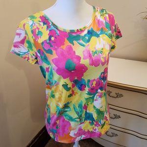 Ralph Lauren brilliant colors tee Petite Large